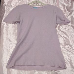 Long lilac cashmere tee by C&C California